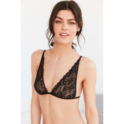 Out From Under Angelica Lace Triangle Bra UO38078309 BLACK