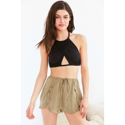 Out From Under Mila Cross Front Rope Tie Bra UO38473930 BLACK