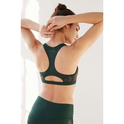 Without Walls Engineered Keyhole Racerback Bra UO38243325 GREEN