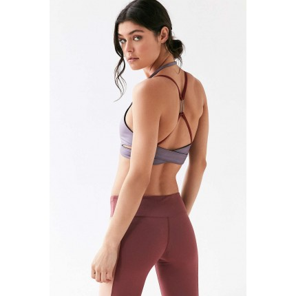 Without Walls Double Bridle Sports Bra UO38858940 PURPLE