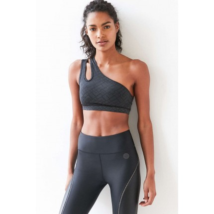 Without Walls Reflective One Shoulder Sports Bra UO38860029 BLACK