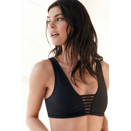 Without Walls Sia Ladder Bra UO38860748 BLACK