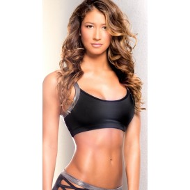BodyZone Apparel Iron Criss-Cross Sports Bra