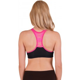 Flex Wire Free Lace Back Sports Bra