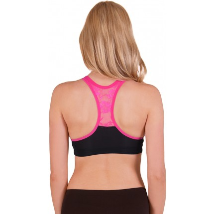 Flex Wire Free Lace Back Sports Bra YFX-5532