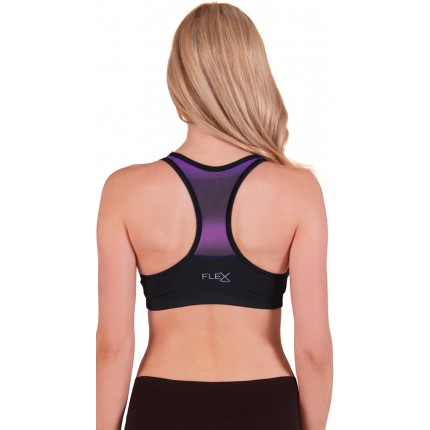Flex Push-Up Racer Back Ombre Sports Bra YFX-5538