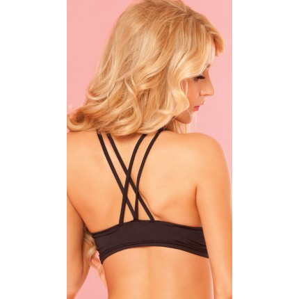 Pink Lipstick Pure Performance Strappy Sports Bra YPL-23017