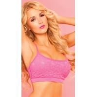 Pink Lipstick Pink Lace Sports Bra