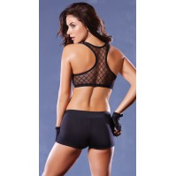 Seven 'Til Midnight Push-Up Fence Mesh Sports Bra