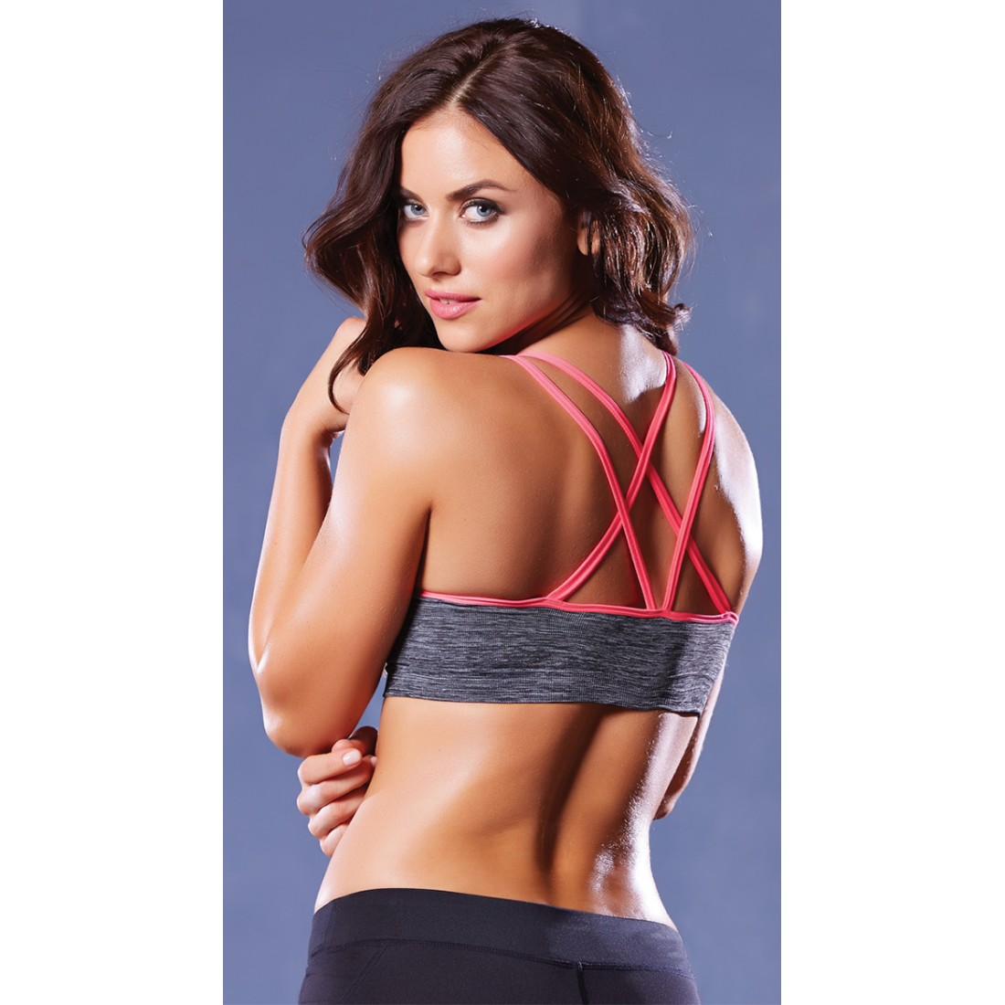 58a90fdbb0 Seven  Til Midnight Strappy Contrast Push-Up Sports Bra YST-30122