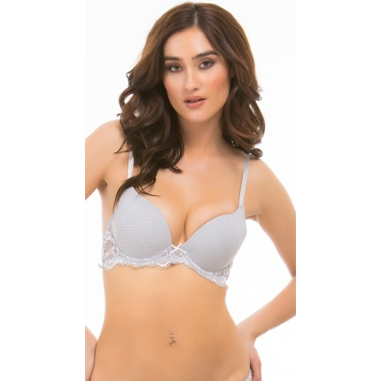 Yandy Rene Rofe First Kiss Grey Polka Dot Bra YYB-YCB25280-0562G