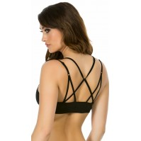 Yandy Rene Rofe Highly Active Black Sport Bra