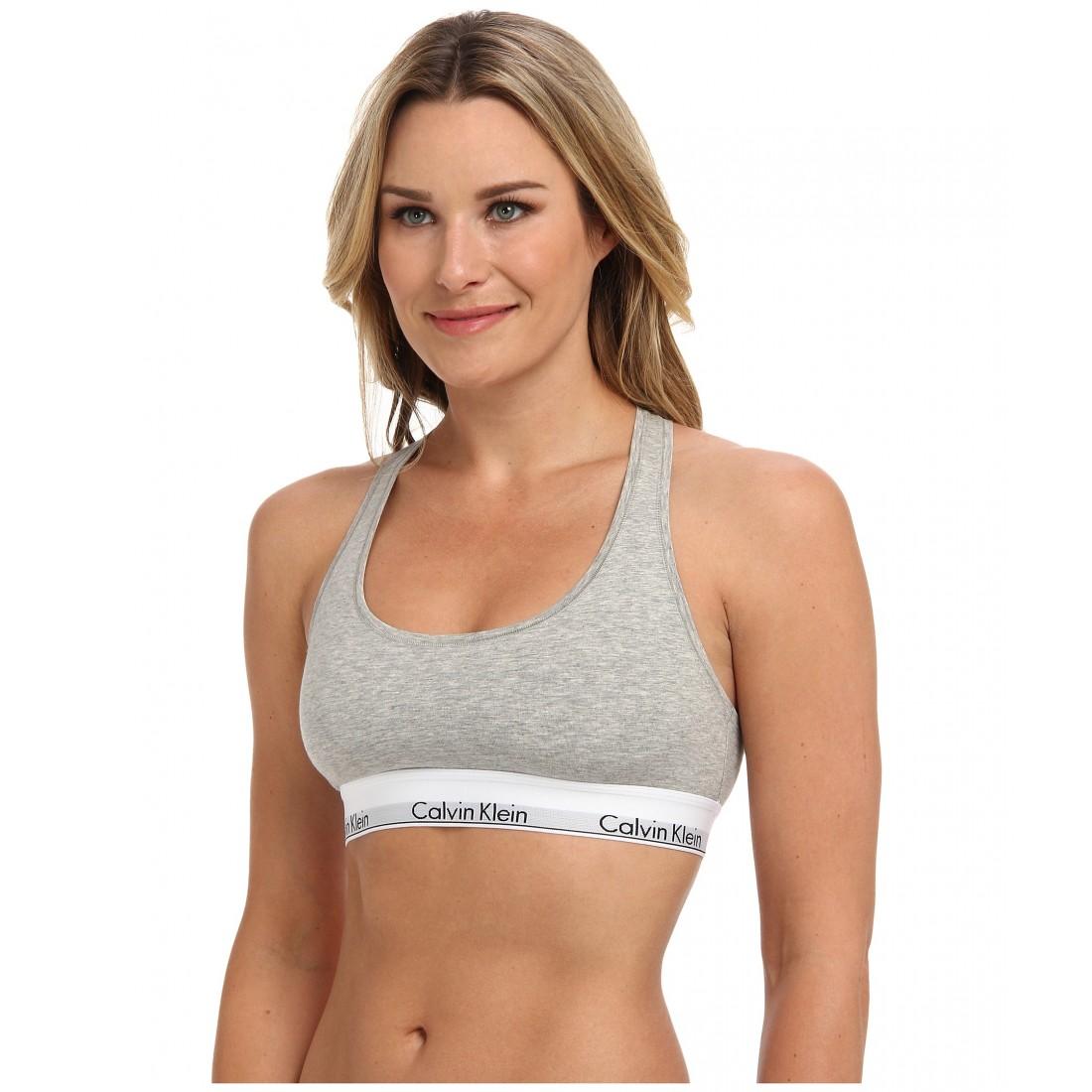 fbb3a6c4b8d Calvin Klein Underwear Modern Cotton Bralette F3785 ZPSKU 8317898 Grey  Heather