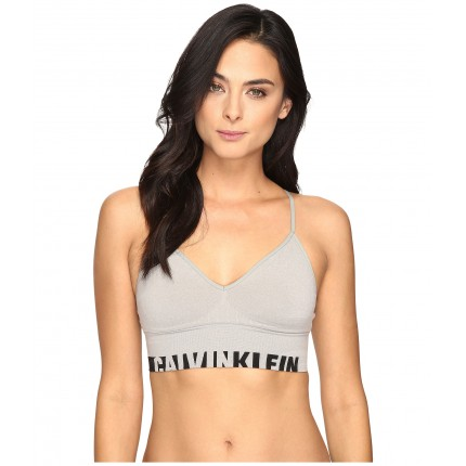 Calvin Klein Underwear Logo Cotton Longline Bralette ZPSKU 8717392 Grey Heather