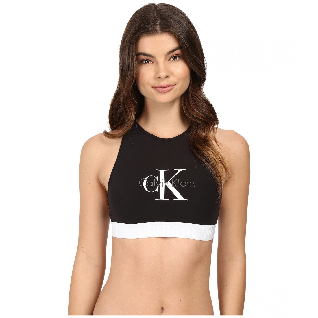 a6ee40a997602 Calvin Klein Underwear Retro Unlined Hi-Neck Bralette ZPSKU 8788793 Black