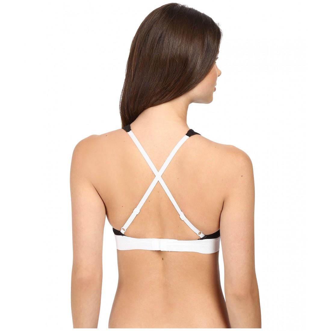 3d5c285c610 Calvin Klein Underwear Retro Unlined Hi-Neck Bralette ZPSKU 8788793 Black