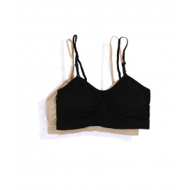 Coobie Strappy Scoopneck 3-Pack Neutrals