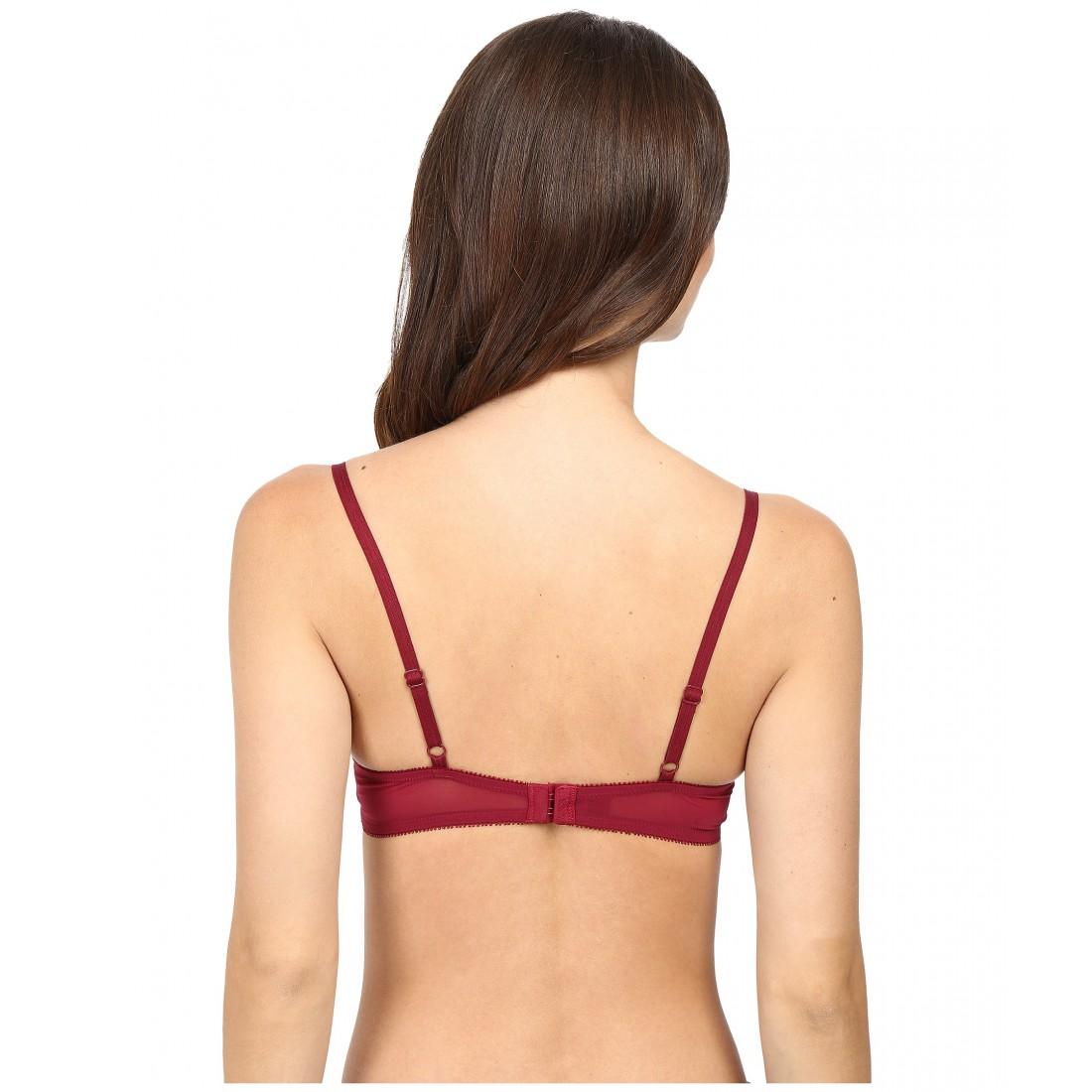 289081f613 DKNY Intimates Sheer Lace Balconette Bra ZPSKU 8768125 Cranberry