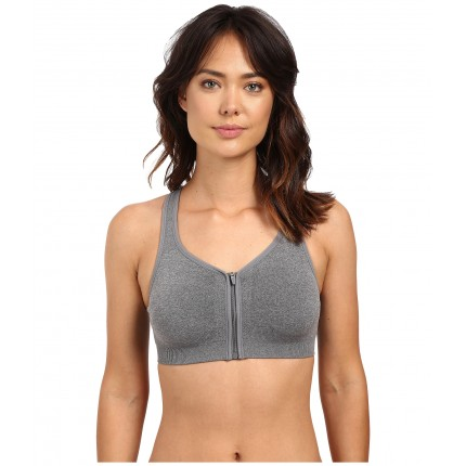 Jockey Active Zip Front High Impact Seamless Bra ZPSKU 8673619 Medium Grey Melange