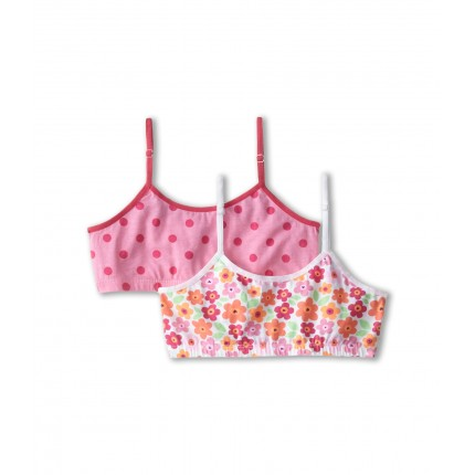 Jockey Kids Crop Top with Convertible Straps 2-Pack (Big Kids) ZPSKU 8507907 Pink Floral/Raspberry Rose