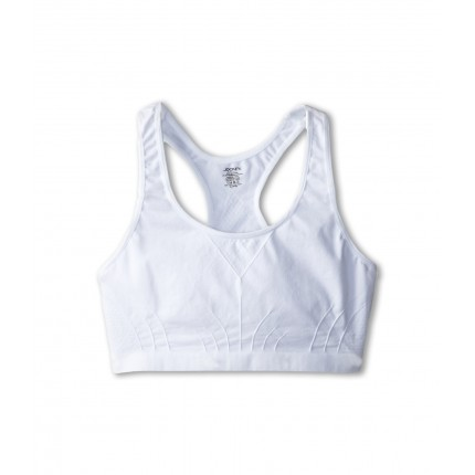 Jockey Kids Racerback Performance/Moisture-Wicking Crop Top (Big Kids) ZPSKU 8507914 White