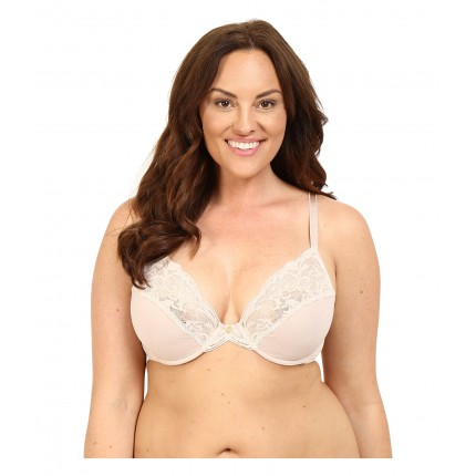 Natori Envious Full Figure Plunge Cut & Sew Underwire 736133 ZPSKU 8765842 Light Café/Ivory