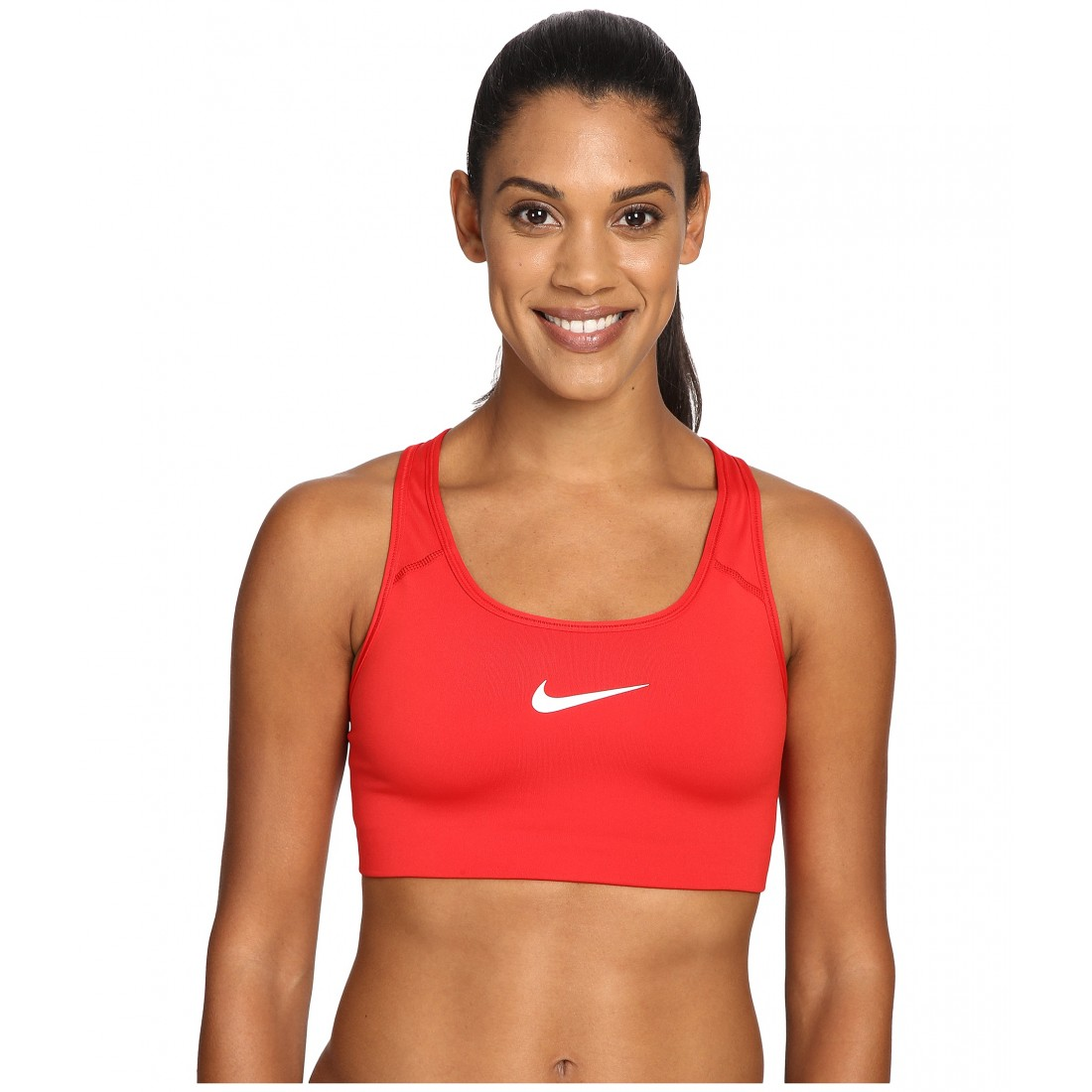 Nike Pro Classic Swoosh Sports Bra Bra4her Zpsku 8717537 University Red White