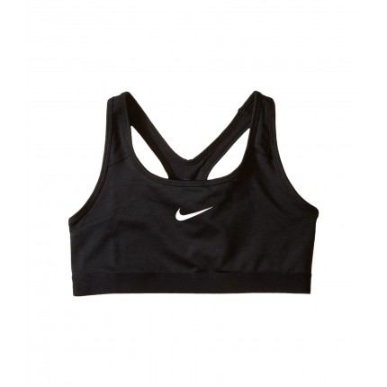 Nike Kids Pro Medium Support Sports Bra (Little Kids/Big Kids) ZPSKU 8723044 Black/Black/White