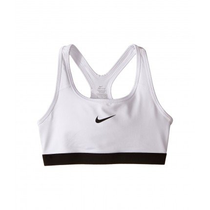 Nike Kids Pro Medium Support Sports Bra (Little Kids/Big Kids) ZPSKU 8723044 White/Black/Black