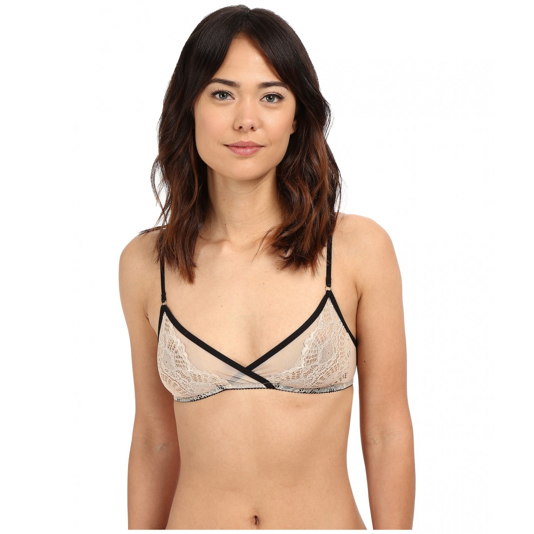 7c16f1b7f4 Only Hearts Whisper Sweet Nothings Triangle Bralette ZPSKU 8731129  Nude Black