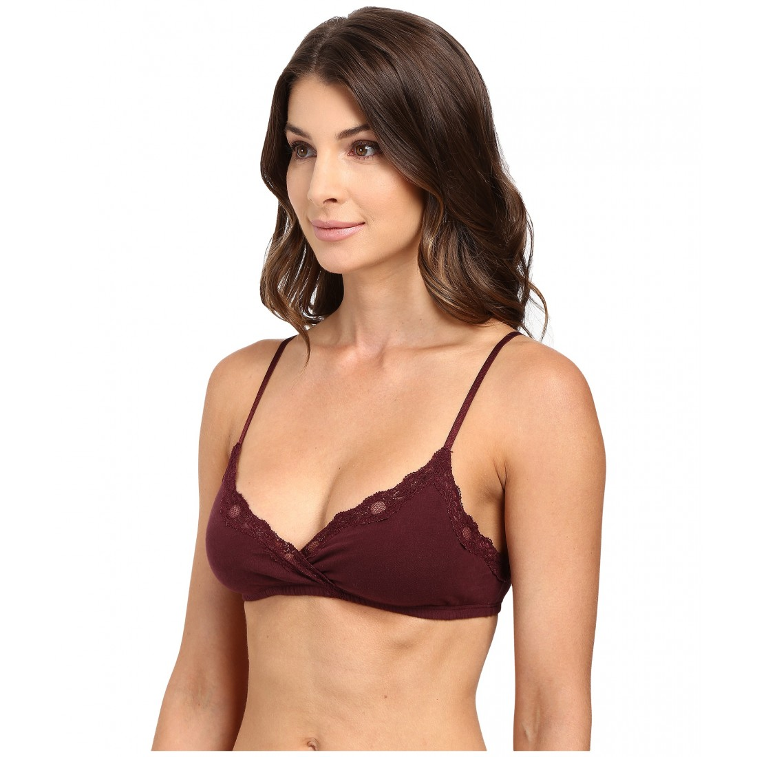 da524db0218a7 Only Hearts Organic Cotton Wrap Bralette ZPSKU 8753339 Wine
