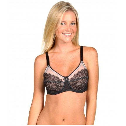 Wacoal Retro Chic Full-Busted Underwire Bra 855186 ZPSKU 7900258 Black