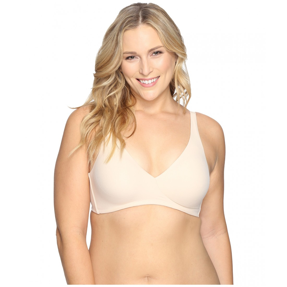 abaeecdf875 Wacoal How Perfect Full Figure Wire Free Bra 852389 ZPSKU 8799567 Naturally  Nude