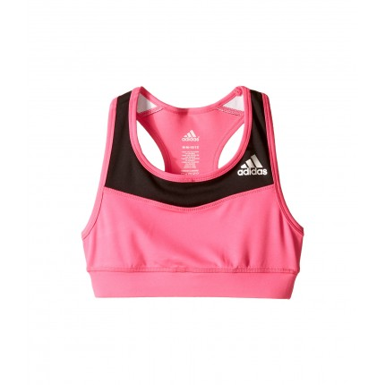 adidas Kids Gym Bra (Big Kids) ZPSKU 8728152 Shock Pink/Black