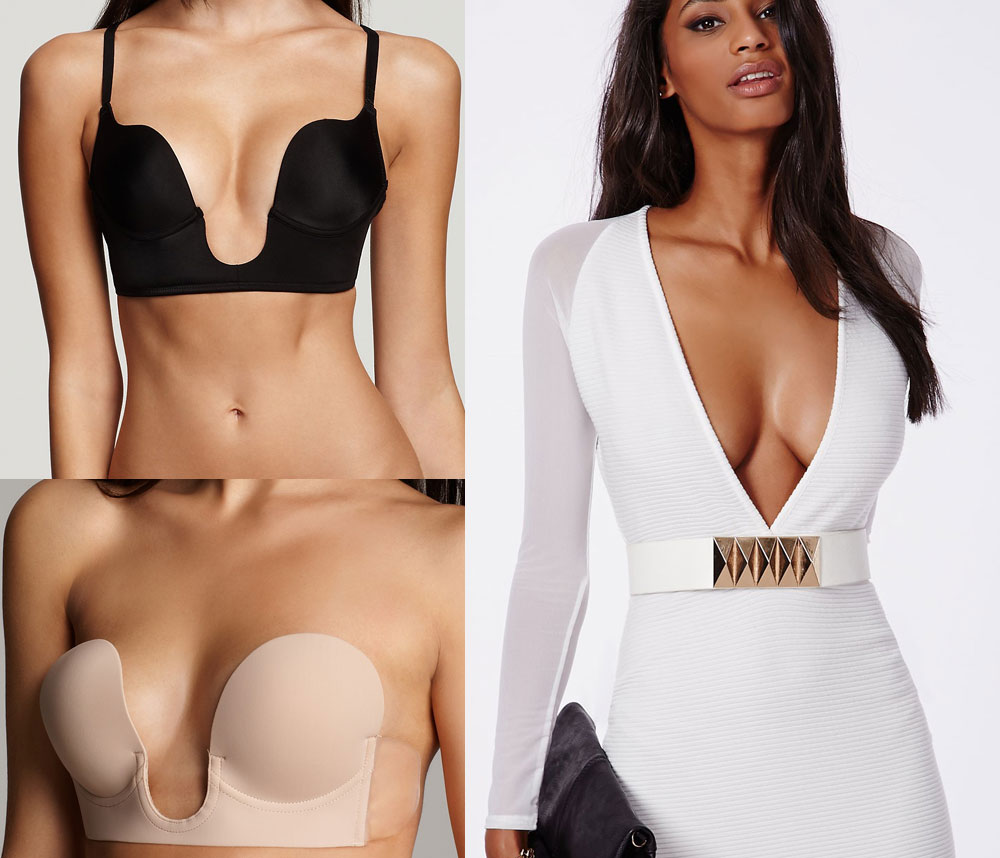 Bra for V- and U-Plunge Dress